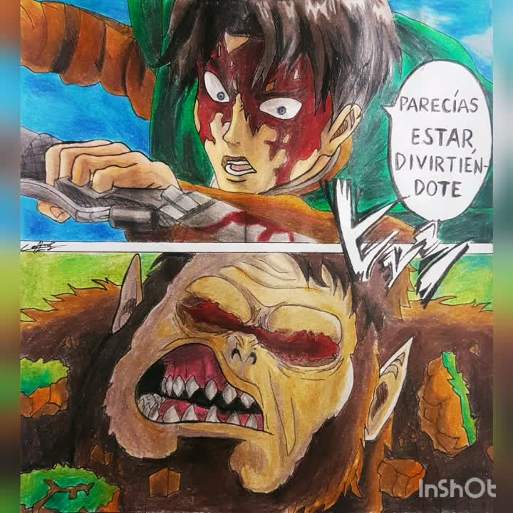 Dibujo Levi Vs Titán Bestia Shingeki No Kyojin Es Amino